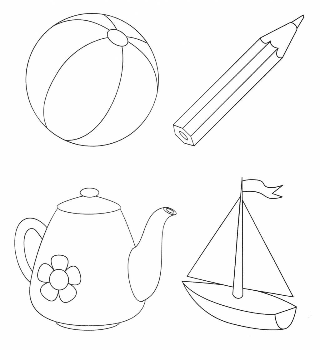 Раскраски для малышей предметные картинки