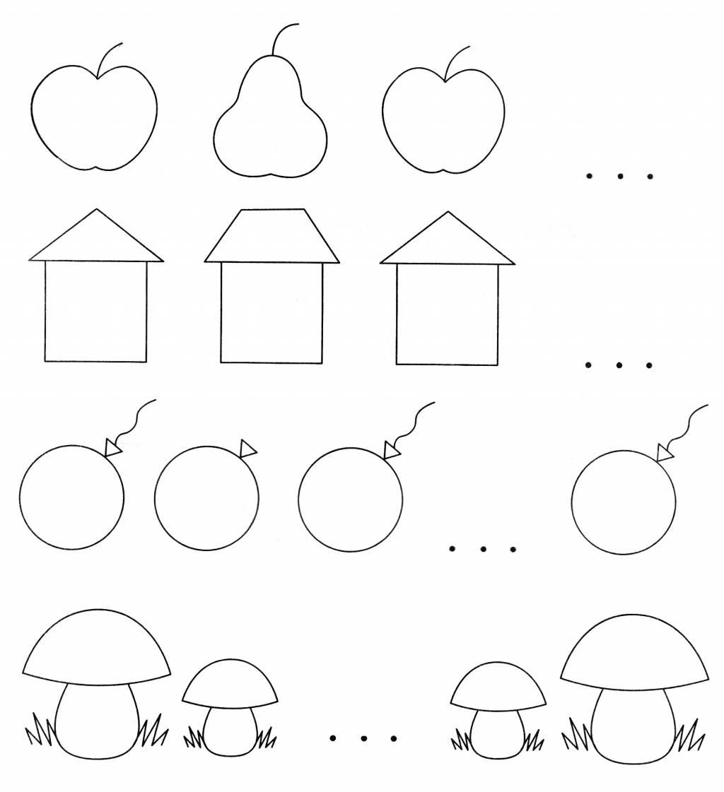 Упражнения на логику для дошкольников в картинках