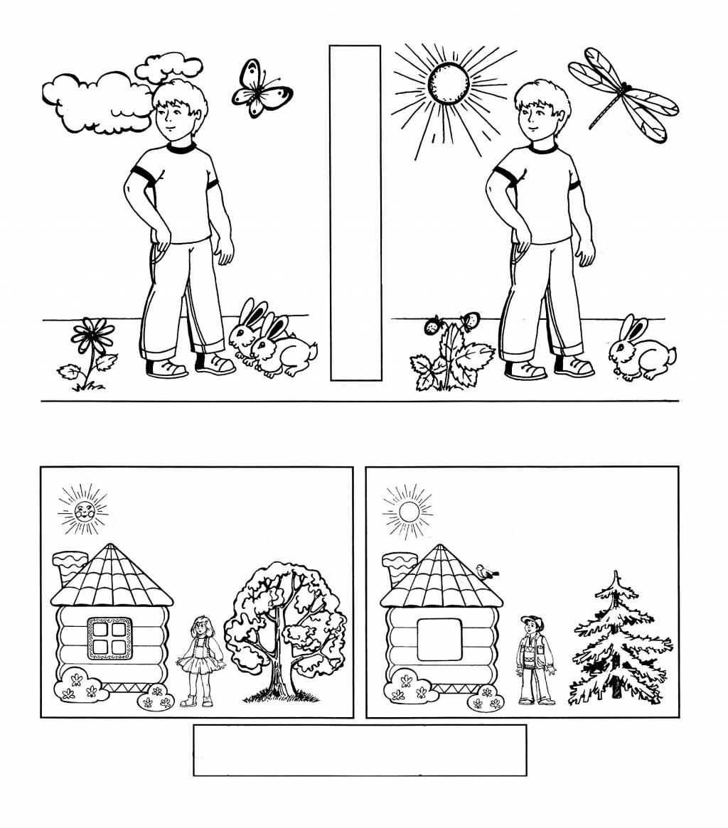 тесты различие картинок деревенском стиле позволит